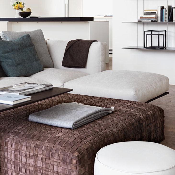 modern living room featuring a flexform soft dream sofa