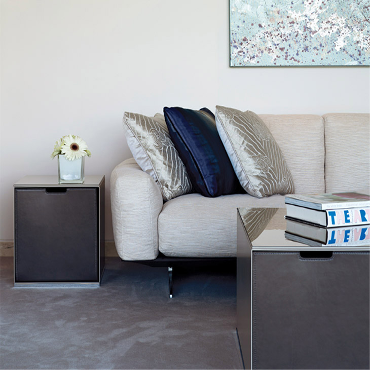 modern living room featuring flexform soft dream sofa