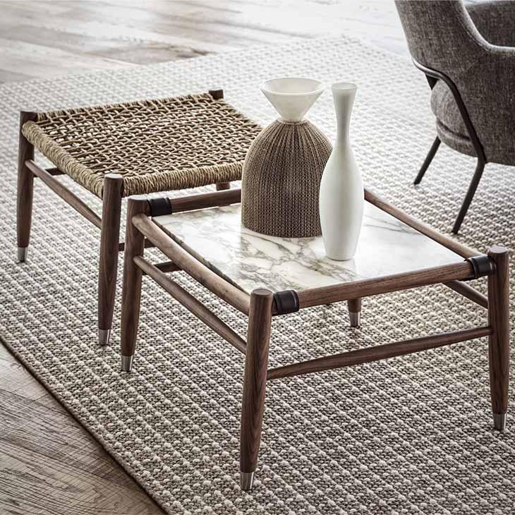 flexform tessa ottoman and side table