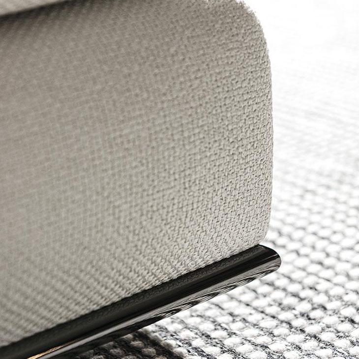 close up base of minotti hamilton sofa