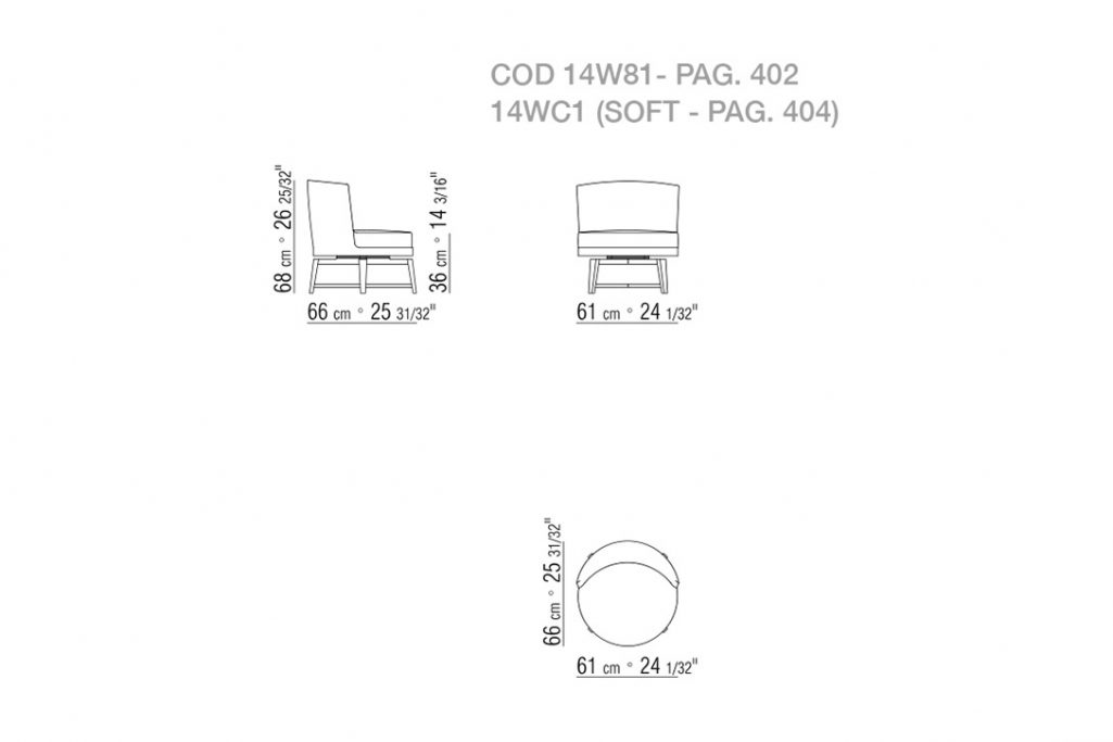 line drawing and dimensions for flexform feel good armchair wooden base swivel