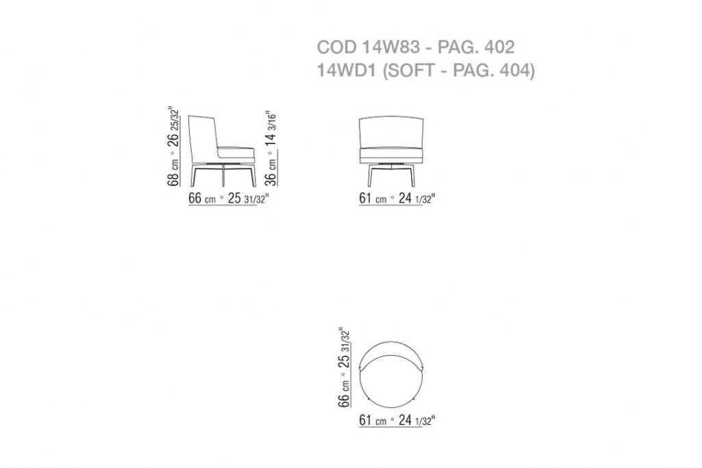line drawing and dimensions for flexform feel good armchair metal base swivel