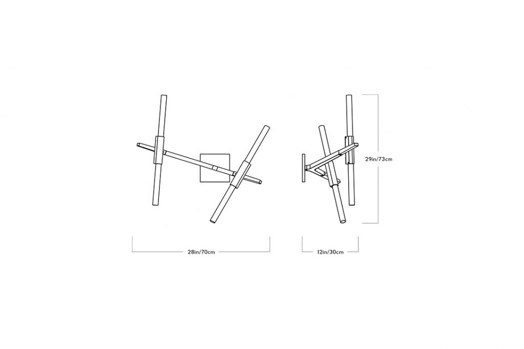 line drawing and dimensions for a roll & hill agnes sconce 4