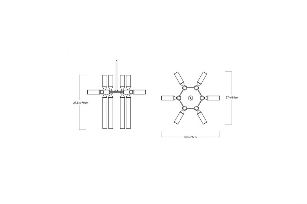 line drawing and dimensions for a roll and hill castle pendant 18-02