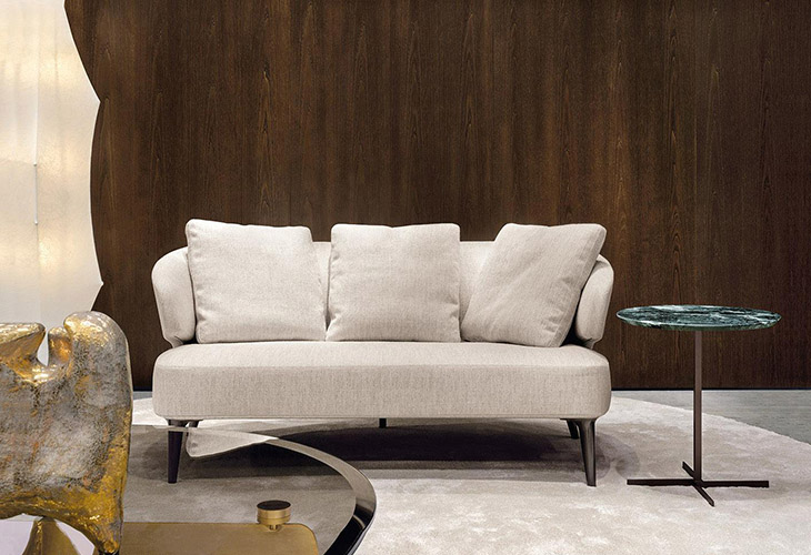 modern space featuring minotti aston sofa