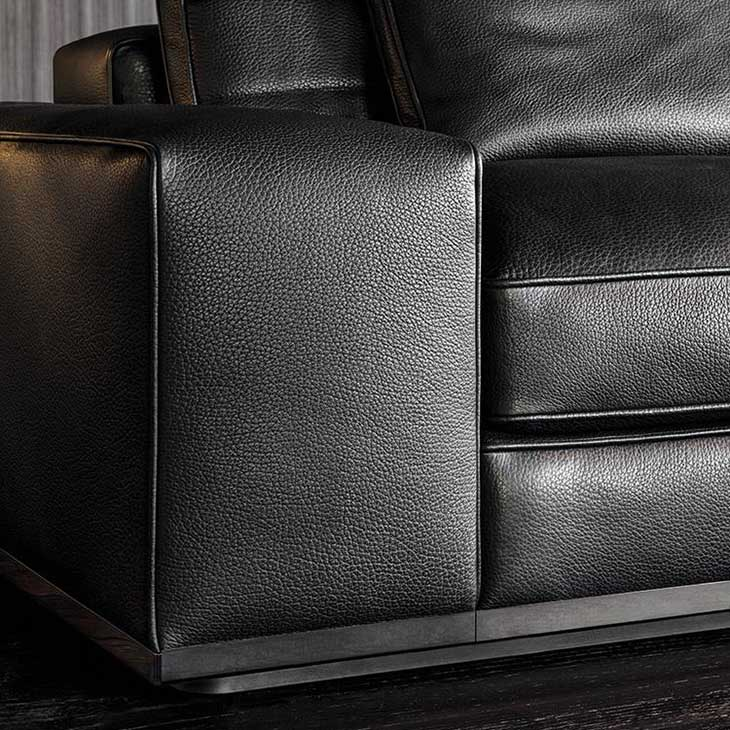 close up of arm on a minotti lawrence sofa