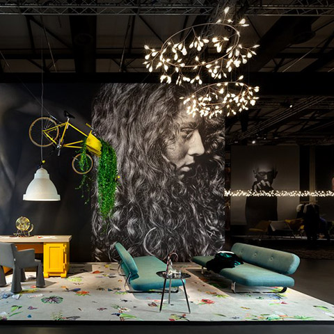 two moooi heracleum the big o pendant lights at salone del mobile in milan