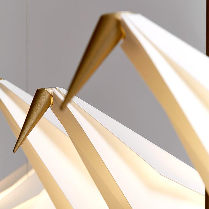 close up of moooi perch light branch pendant