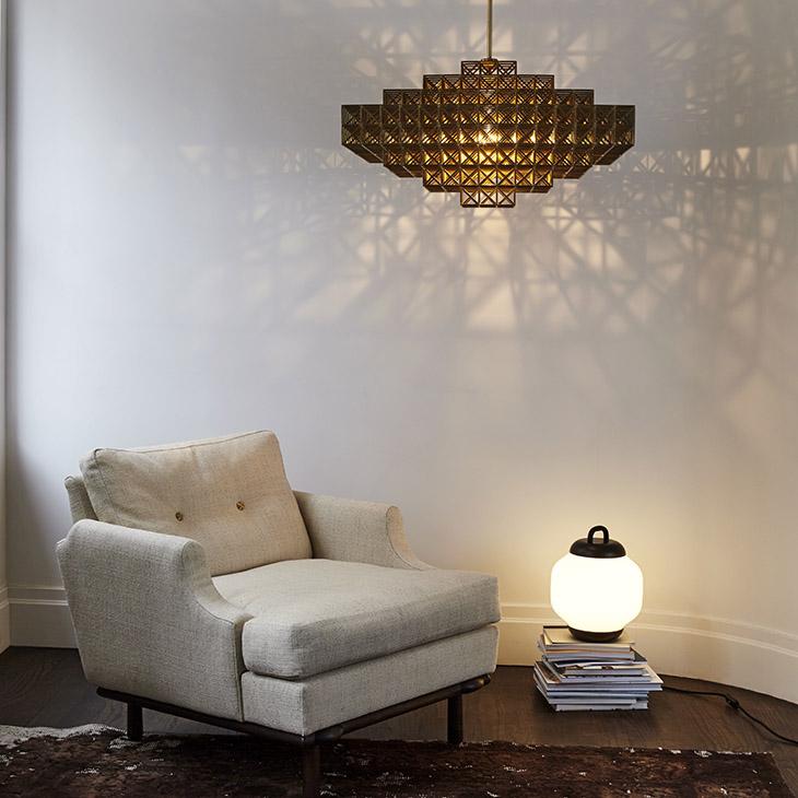 roll and hill esper table lamp in situ