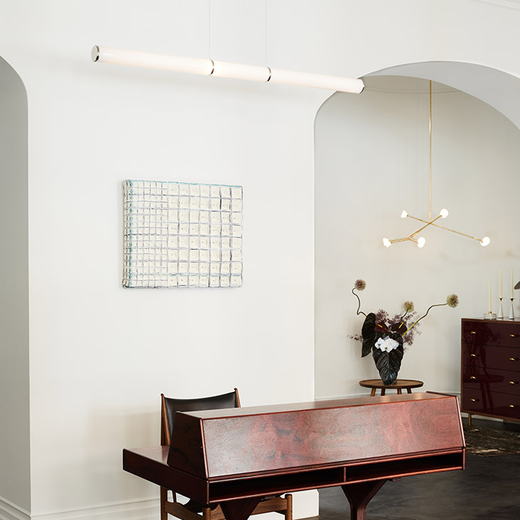 showroom featuring roll & hill mini endless pendant