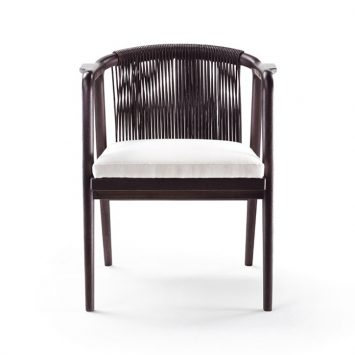 flexform crono dining chair on a white background