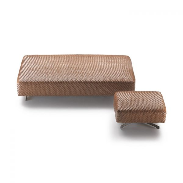 flexform filicudi ottomans large and small on a white background