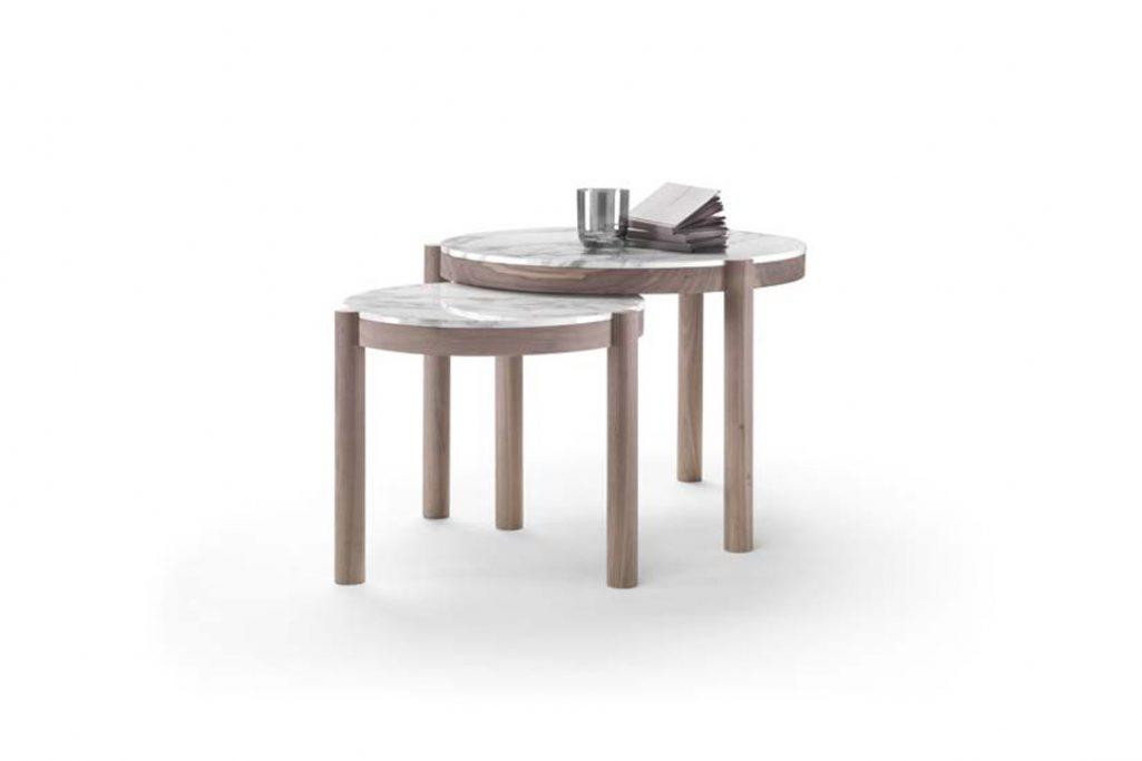flexform gustav side tables on a white background