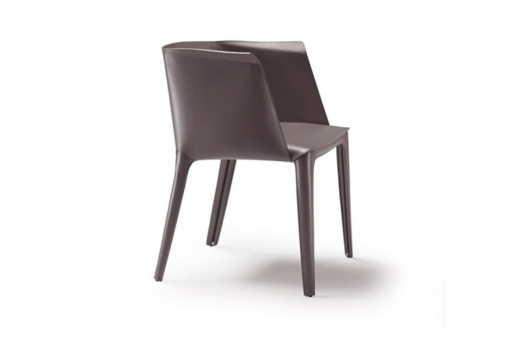 flexform isabel dining arm chair on a white background