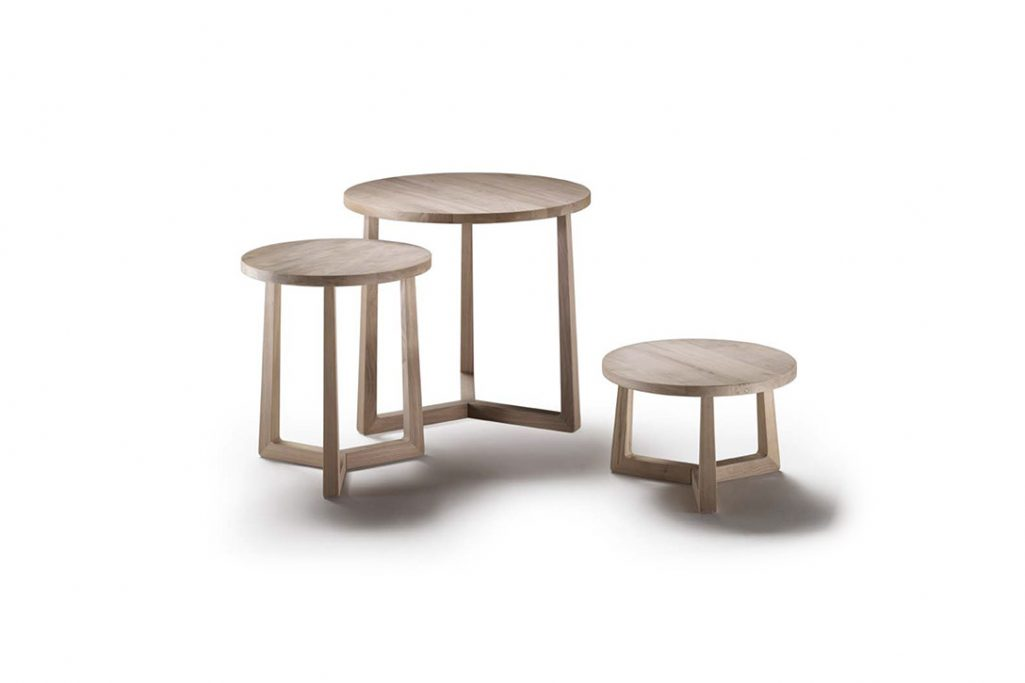 flexform jiff side tables on a white background