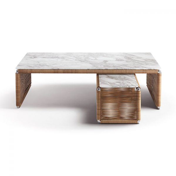 flexform tindari coffee table and side table on a white background