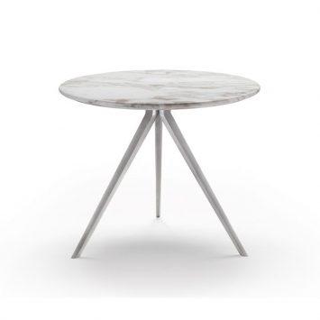 flexform zefiro side table round on a white background