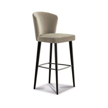 minotti aston bar stool on a white background