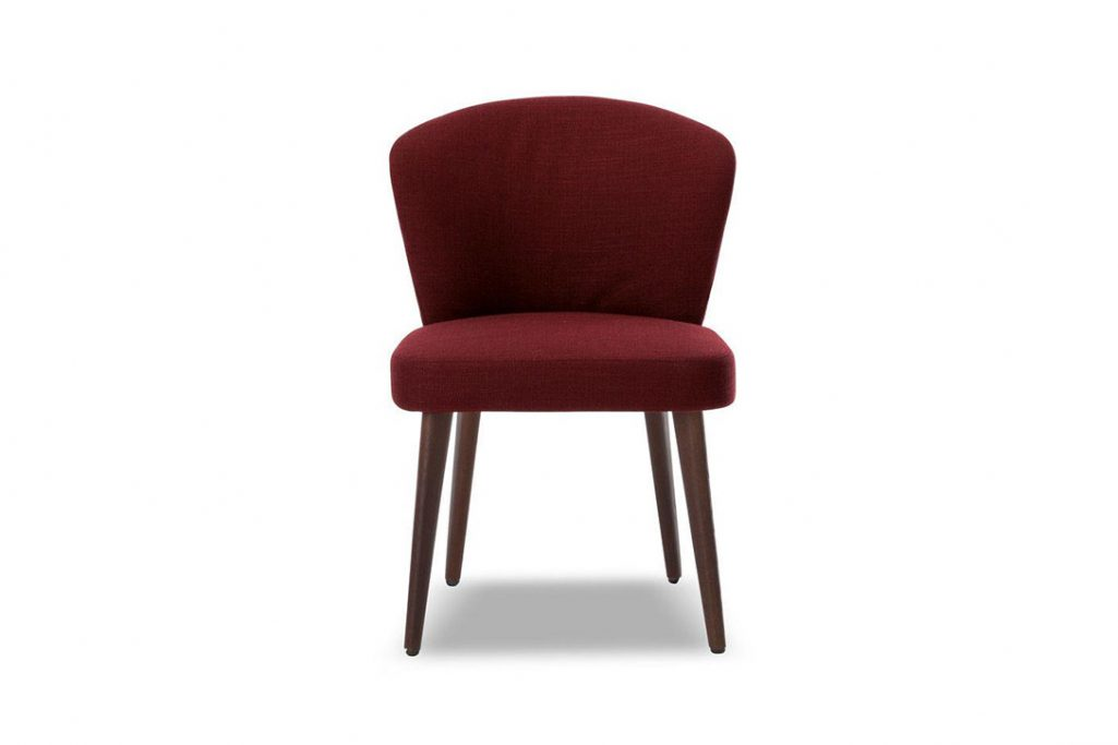 minotti aston dining chair on a white background