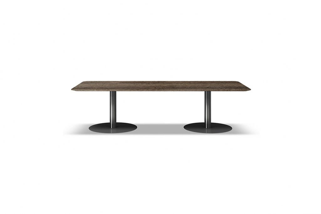 bellagio dining table rectangle on a white background