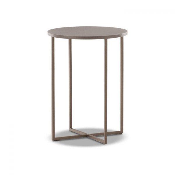 minotti duchamp bronze table round on a white background