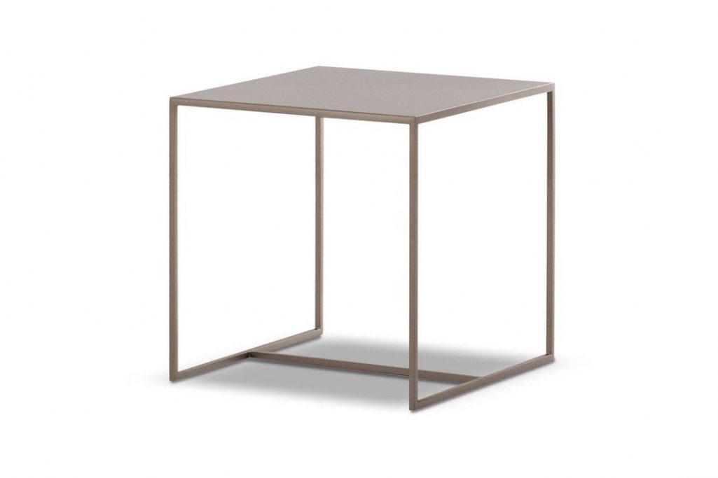 "minotti duchamp bronze table square 15"" on a white background"