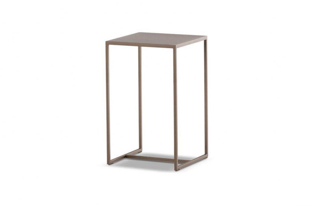 "minotti duchamp bronze table square 9"" on a white background"