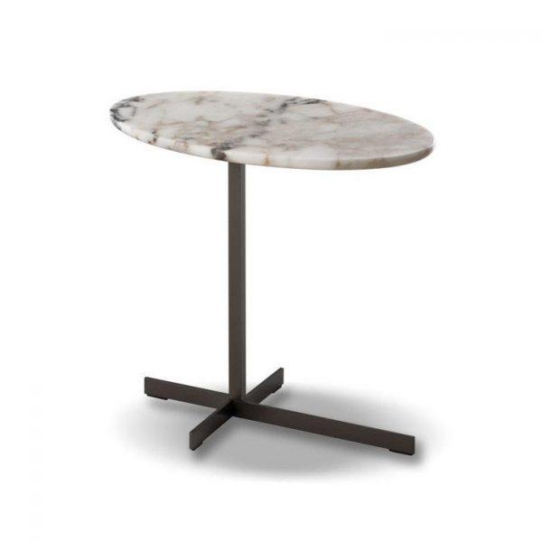 minotti joy jut out side table on a white background