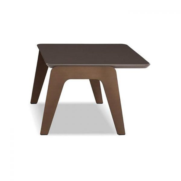 minotti kirk jut out top side table on a white background