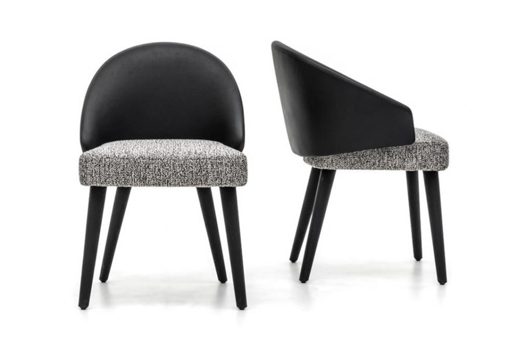 two lawson dining chairs on a white background