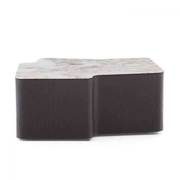 minotti lou coffee table on a white background