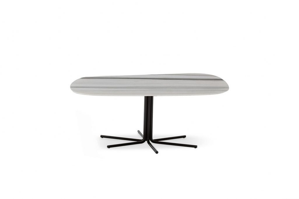 minotti rays coffee table on a white background