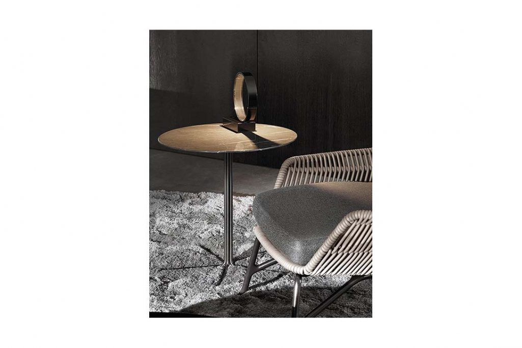 minotti rays side table in situ