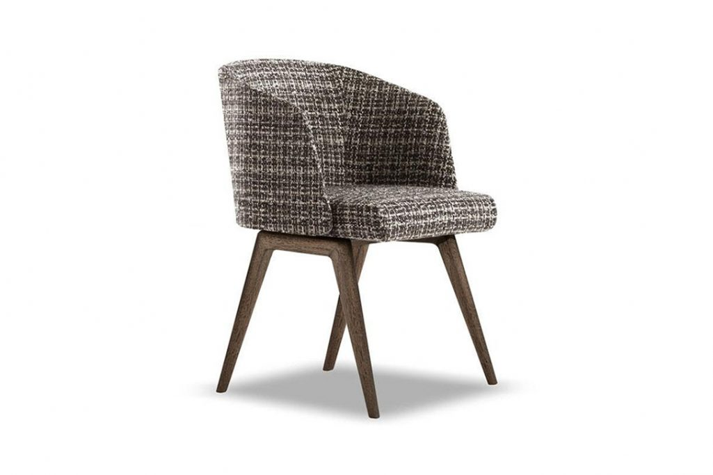 minotti reeves dining chair on a white background