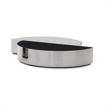 minotti shields coffee table on a white background