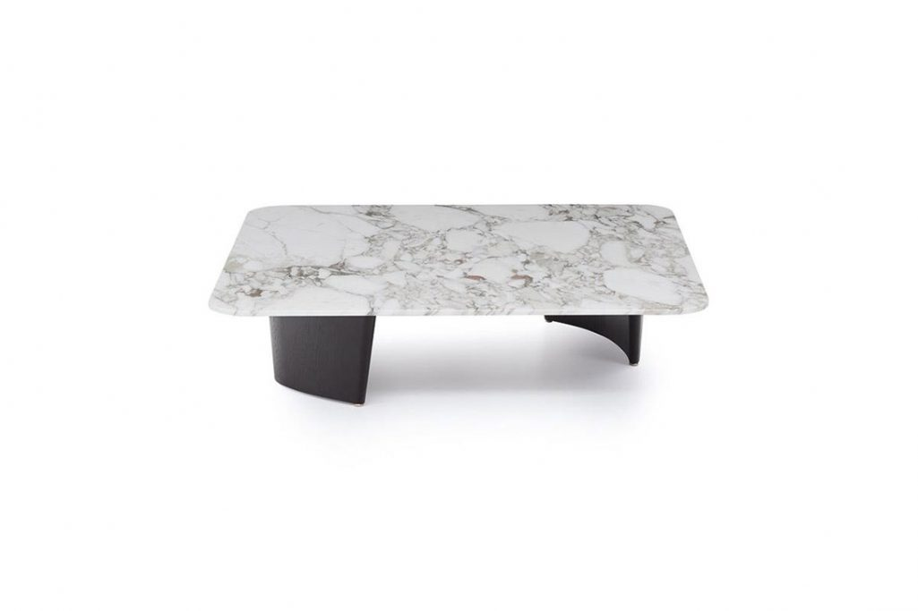 minotti song coffee table on a white background