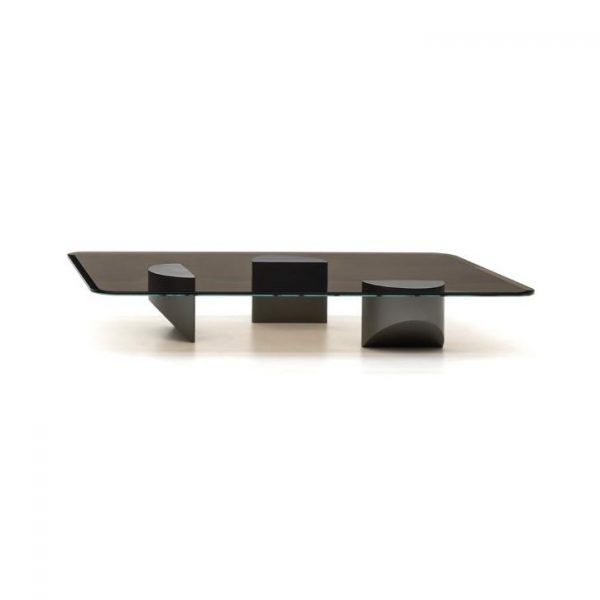 minotti wedge coffee table on a white background