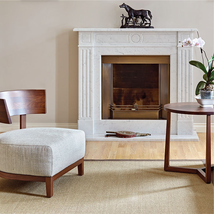 modern living room featuring flexform jiff side table