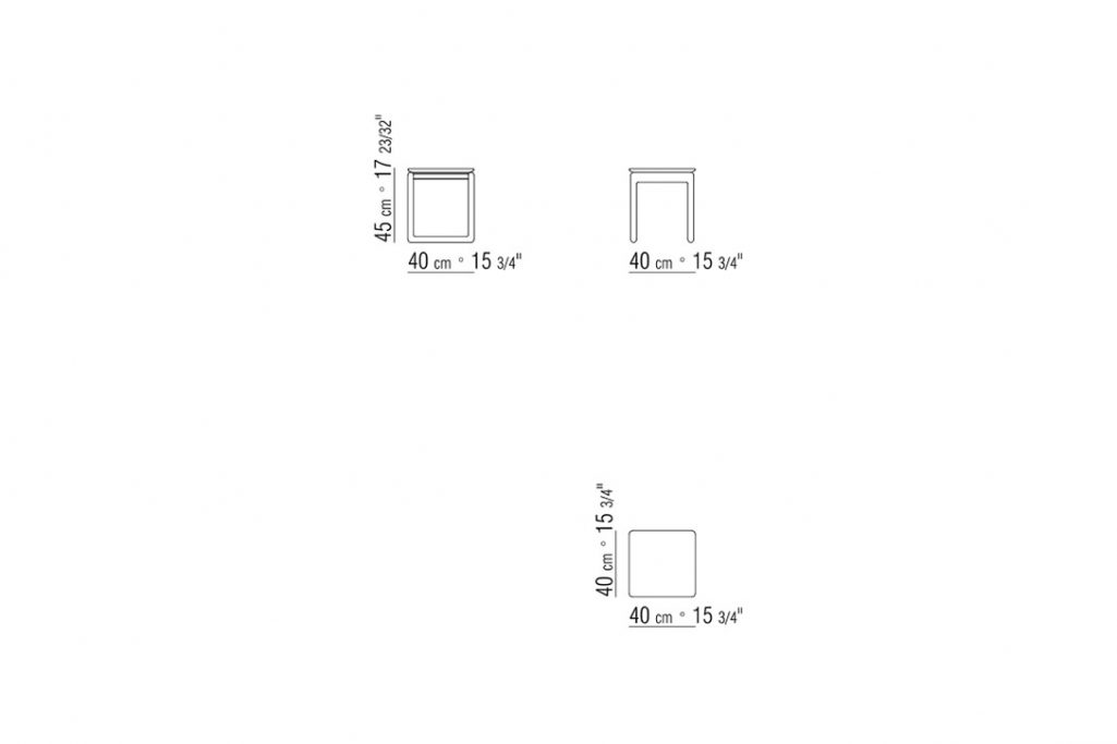 """line drawing and dimensions for a flexform brig side table 15"""""""