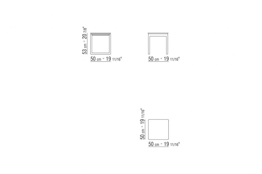 """line drawing and dimensions for a flexform brig side table 19"""""""