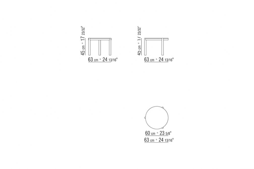 """line drawing and dimensions for flexform gustav side table 24"""""""