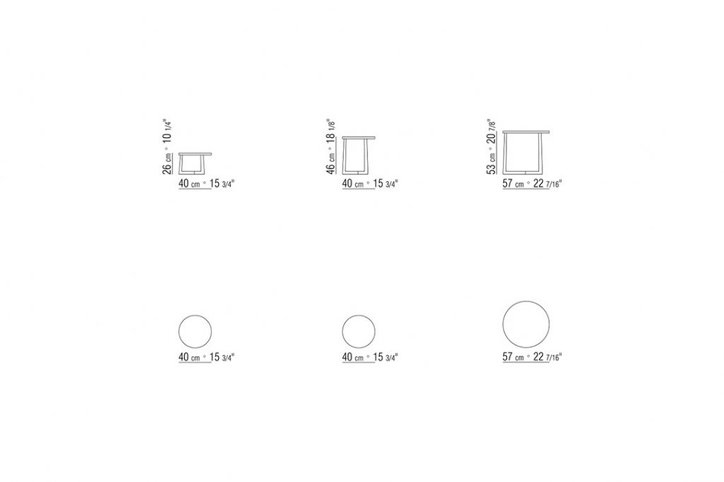 line drawings and dimensions for flexform jiff side tables