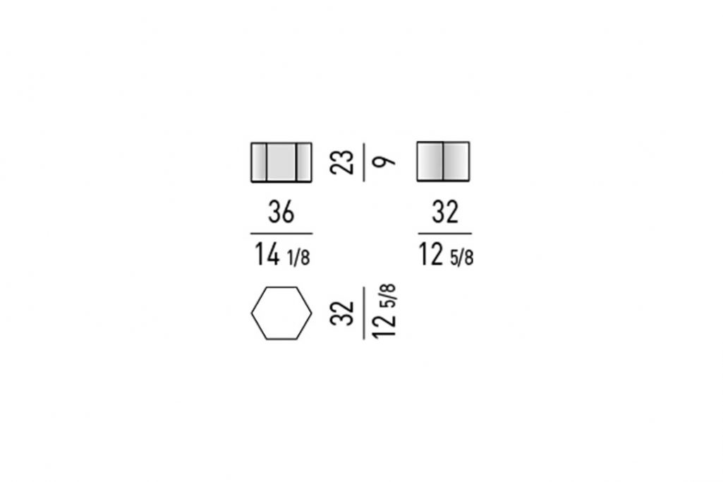 line drawing and dimensions for minotti aeron table mod a