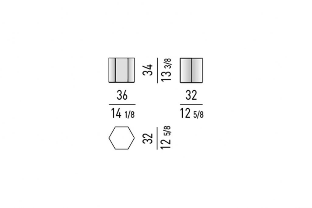 line drawing and dimensions for minotti aeron table mod b