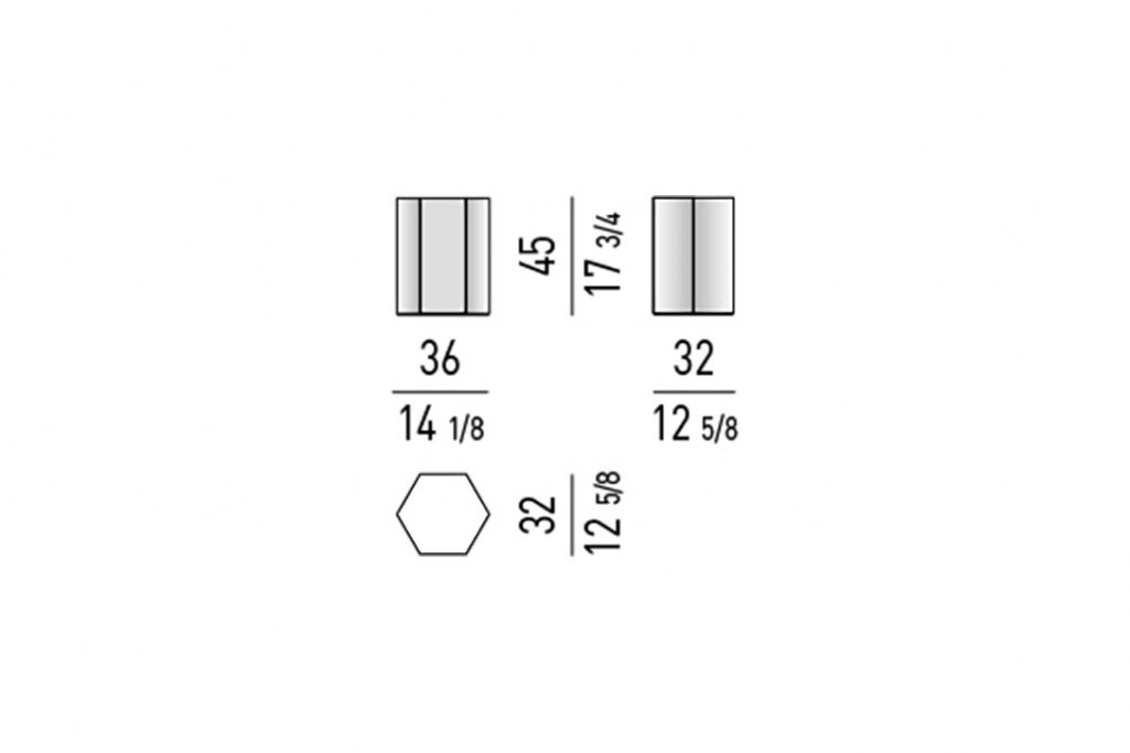 line drawing and dimensions for minotti aeron table mod c