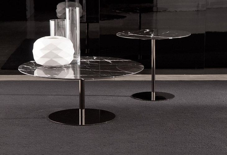 minotti bellagio coffee table and side table in situ
