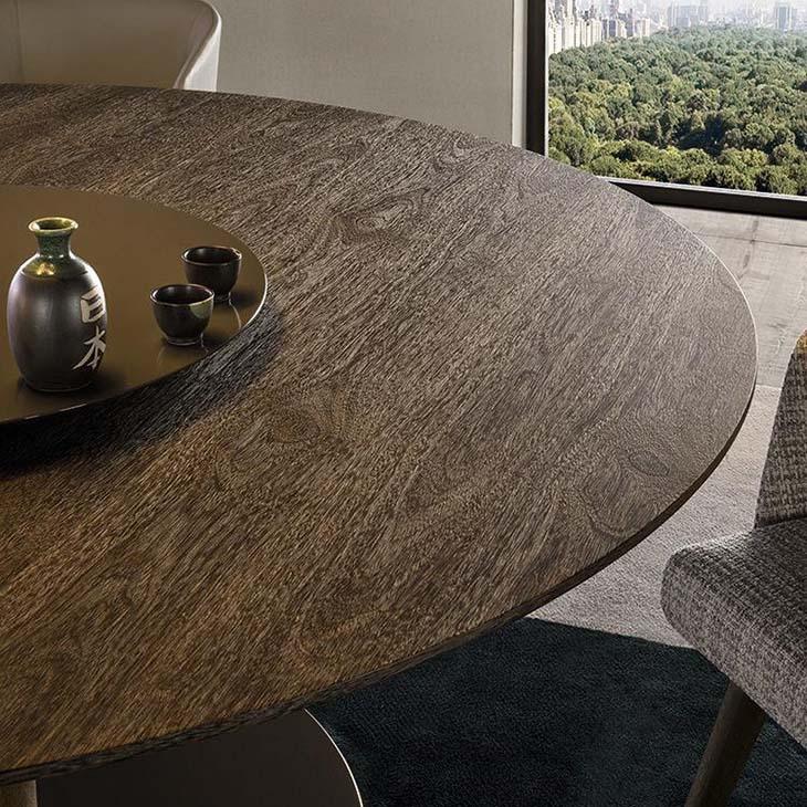 bird's eye view of a minotti bellagio dining table