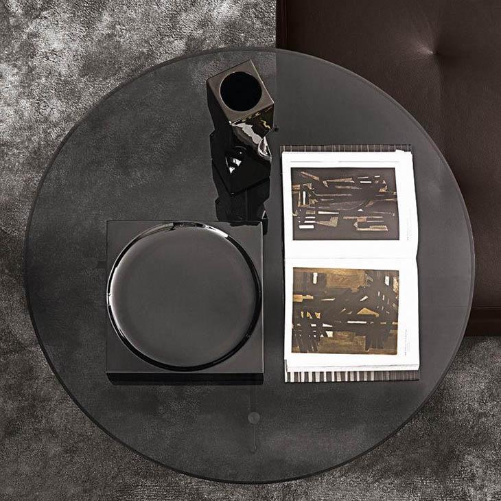 bird's eye view of a minotti clyfford coffee table