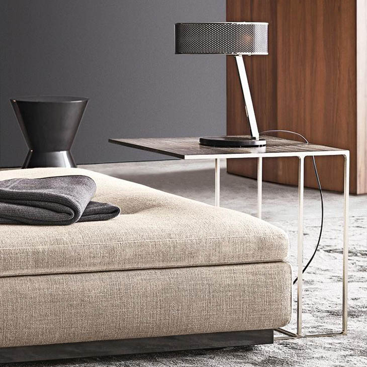 modern living room featuring a minotti leger side table