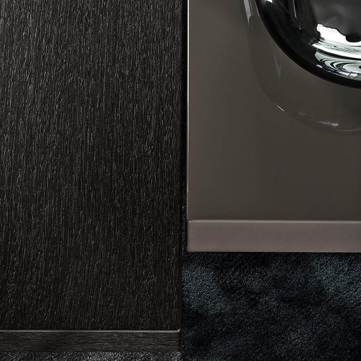 close up of two minotti ritter coffee tables